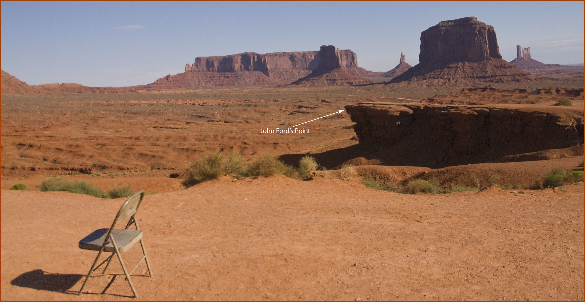 Chair at John Ford's Point -- Monument Valley (UT) August 2013 | by Ron Cogswell