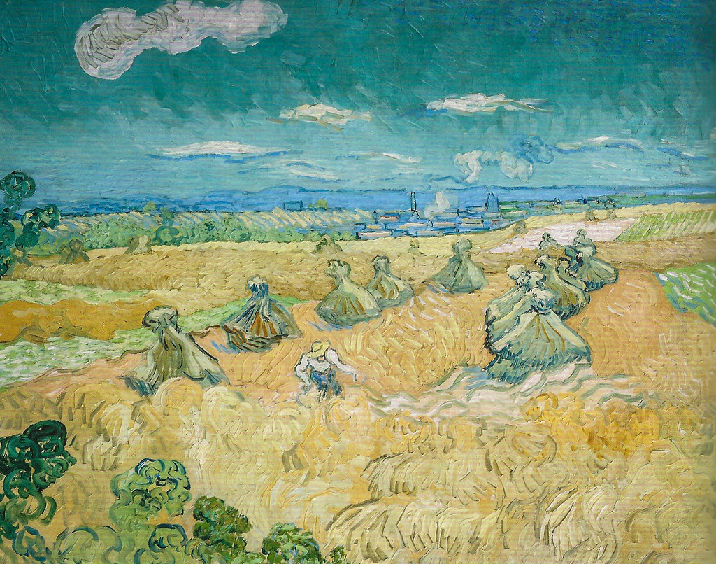 Vincent van Gogh - Wheat Field with Reaper - Auvers, 1890 ...