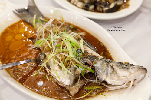 Steamed freshwater bass (鲈鱼)
