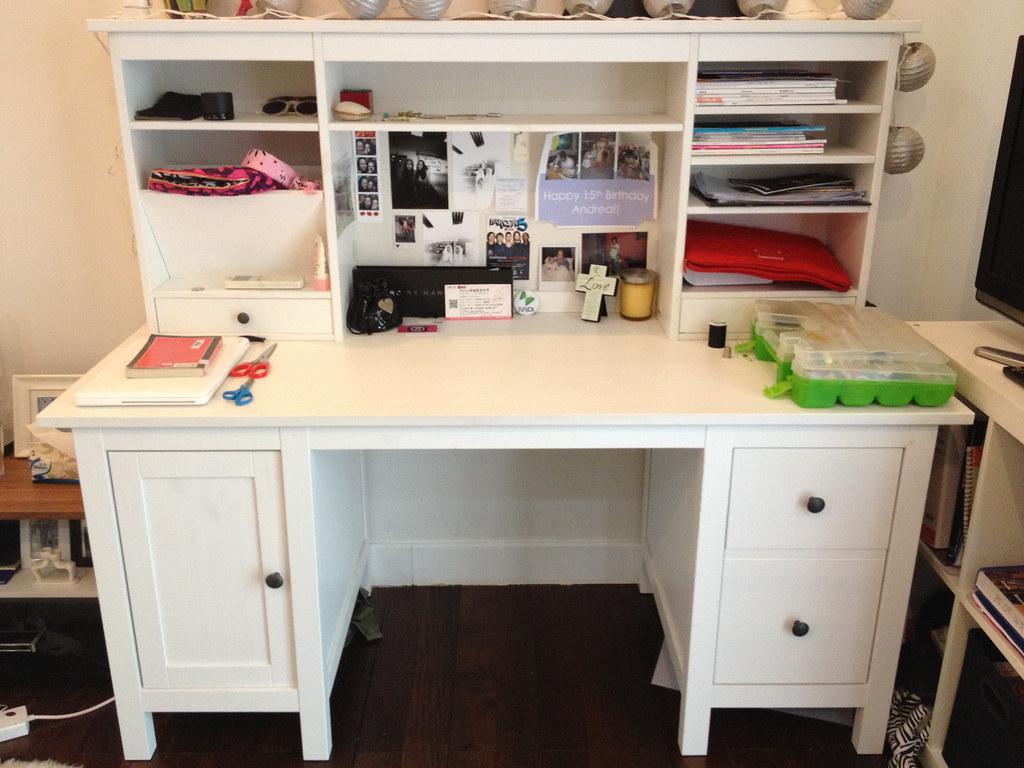 Item8 IKEA Hemnes Desk& Add On Unit White IKEA Desk u2026 Flickr