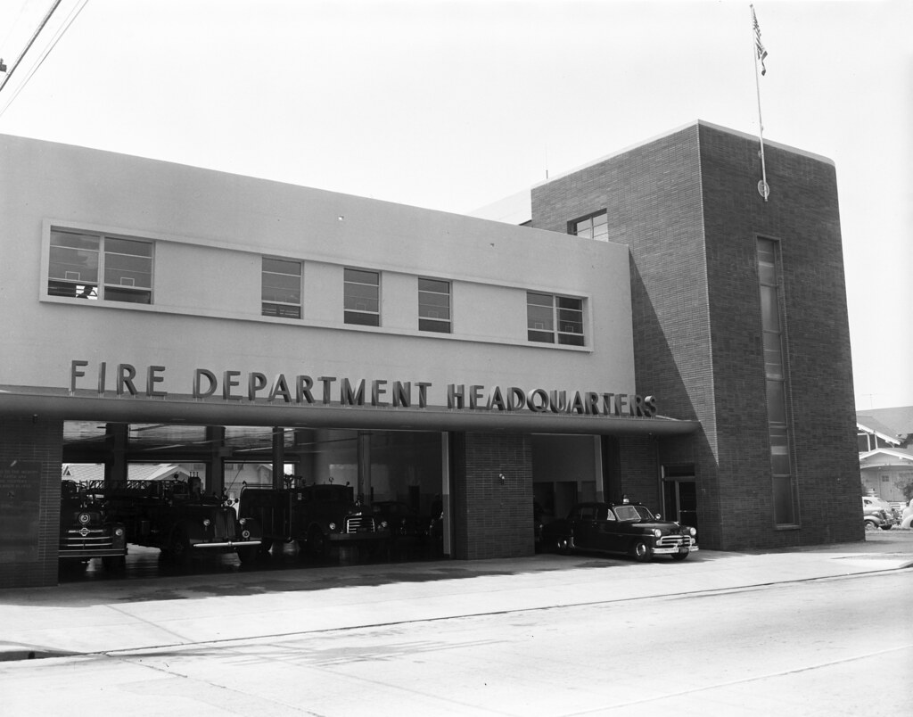 Santa ana fire dept new hq april 1953 there are no - Maison d architecte orange county californie ...