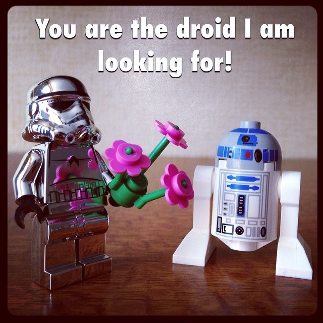 Star Wars Nerd Gift: Geek Valentine: You Are The Droid I Am Looking For. #geek