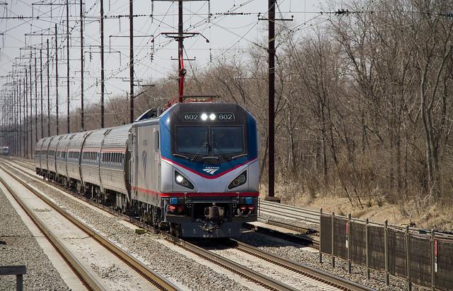 Amtrak northbound Northeast Regional Train No. 164 nearing
