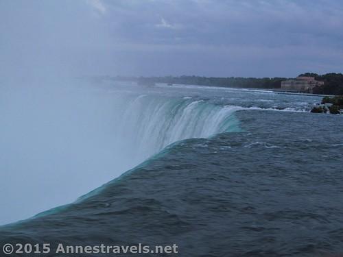 At Brink of the Falls, Horseshoe Falls, Niagara Falls, Canada