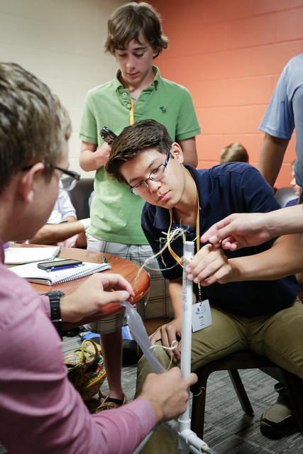 NSLC Engineering builds Trebuchets