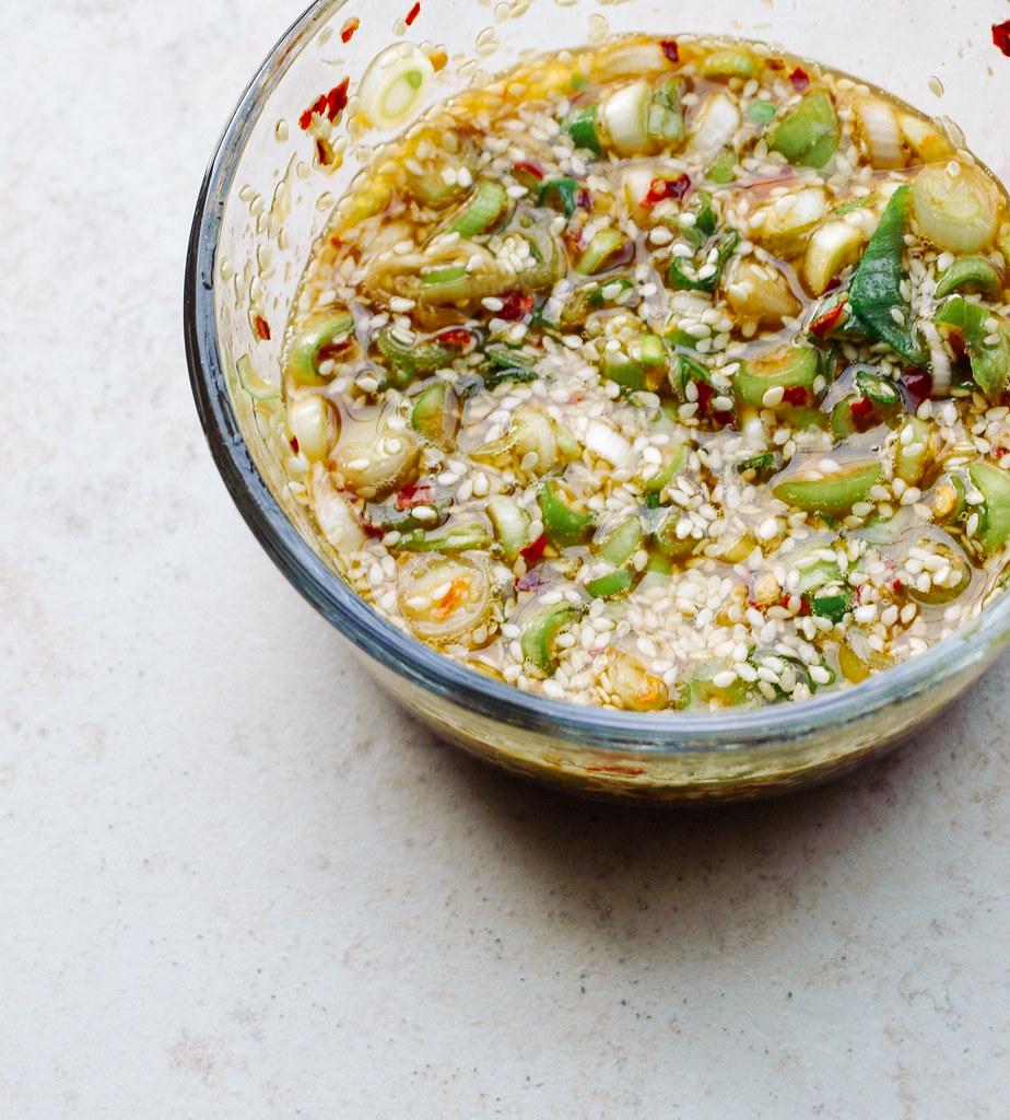 Soba & Cucumber Noodles + Sweet Ginger Scallion Sauce