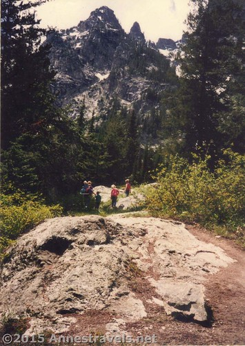 Exploring Cascade Canyon above Inspiration Point in 1995, Grand Teton National Park, Wyoming