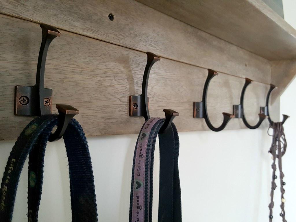 $25 Wall-mounted Coat Rack with Shelf