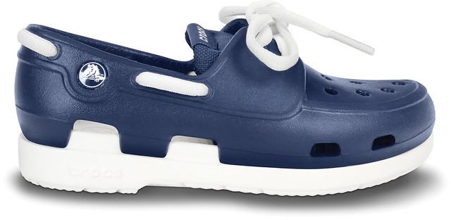 Crocs Beach Line Black Boat Shoes