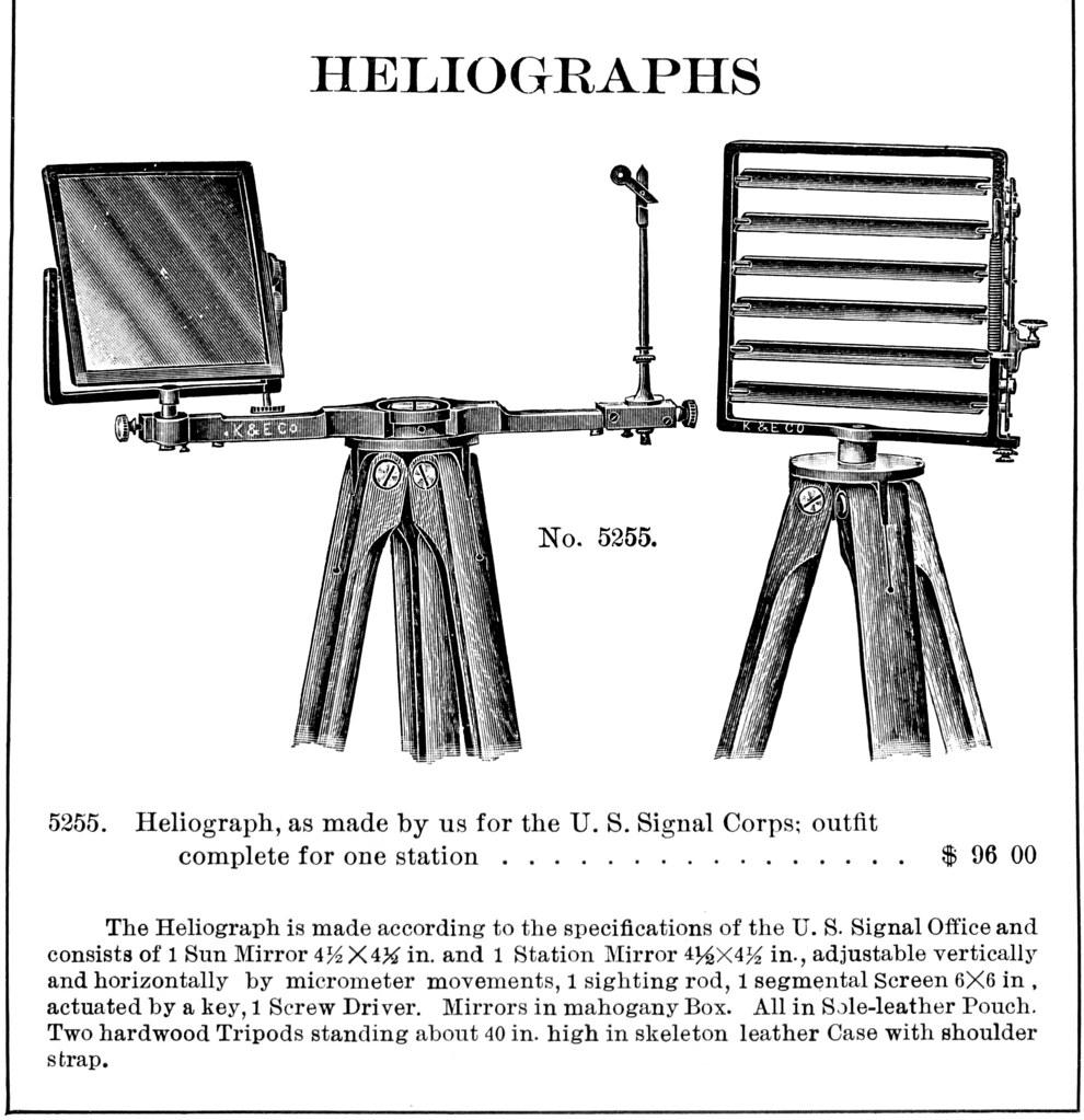 1913 Keuffel  U0026 Esser Heliograph Diagram