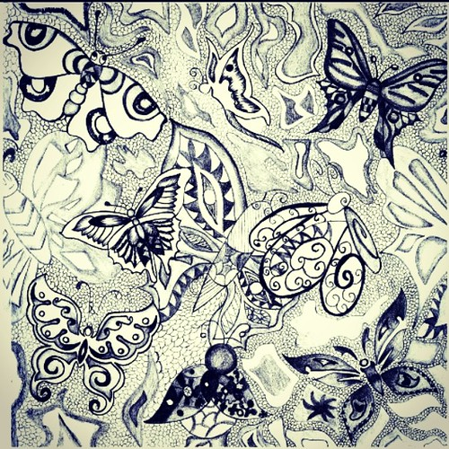Graphic Pen Drawings Butterfly Drawing Pen