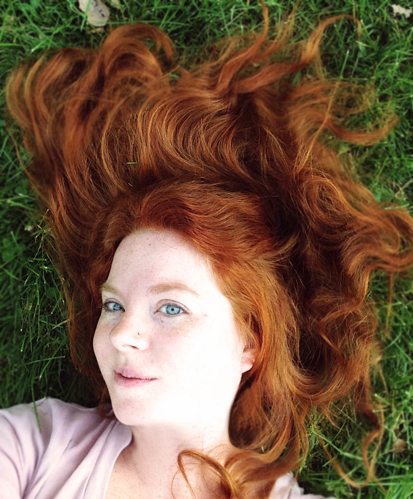 Henna ginger hair