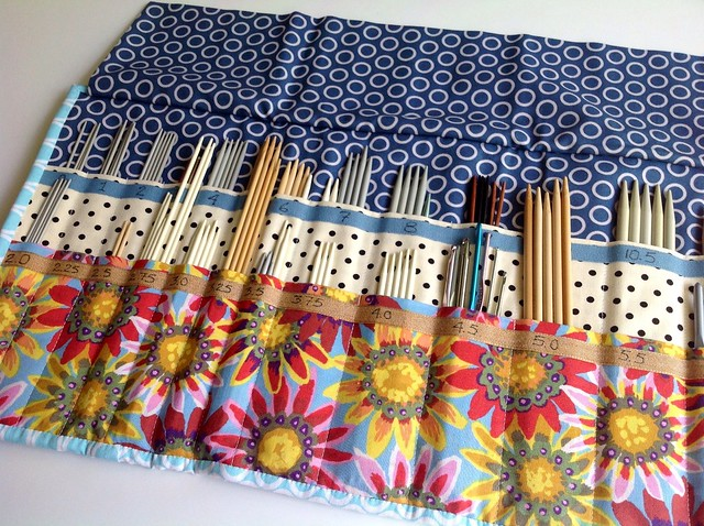 Quilted Knitting Needle Case Pattern : Inside double pointed needle case flickr photo sharing
