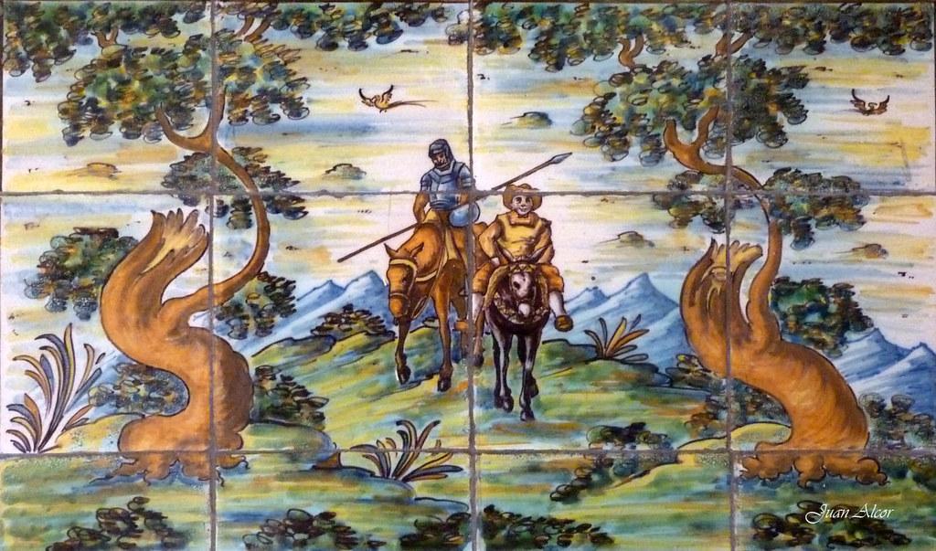 Azulejos edificio de viviendas madrid don quijote y for Azulejos y pavimentos san juan