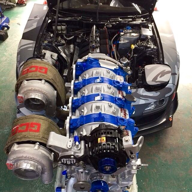 Twin Turbo Kit Rx7: 26B Aka A 4 Rotor Rotary Engine.