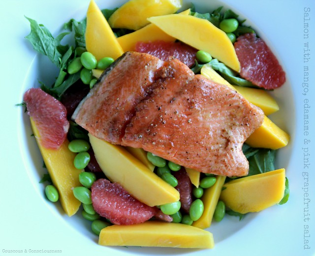 Salmon with mango, edamame & pink grapefruit salad 2.jpg