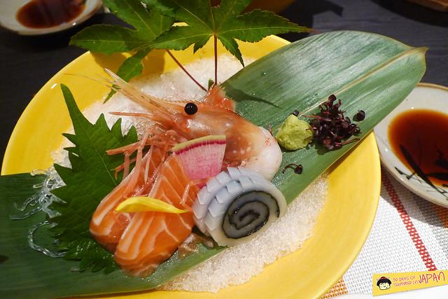 Shogetsu Grand Hotel - Shogetsu style seasonal dinner - sashimi