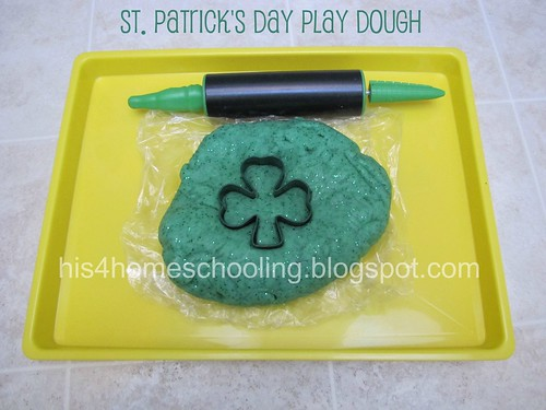 St. Patrick's Day Play Dough Gold Hunt (Photo from H is for Homeschooling)