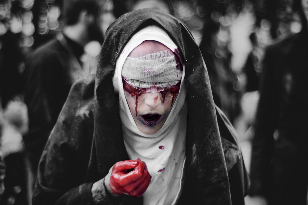 Blind Zombie Nun Girl Seems Bit Distressed