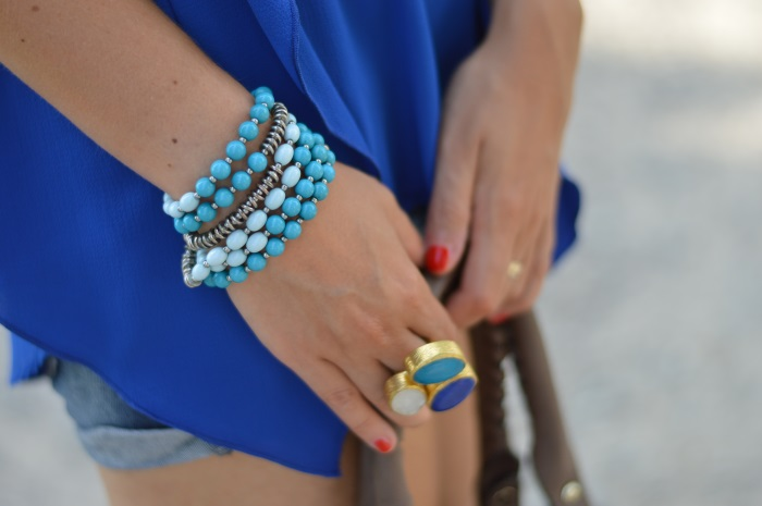 blue, wildflower girl, fashion blog, mamared bag, shorts (13)