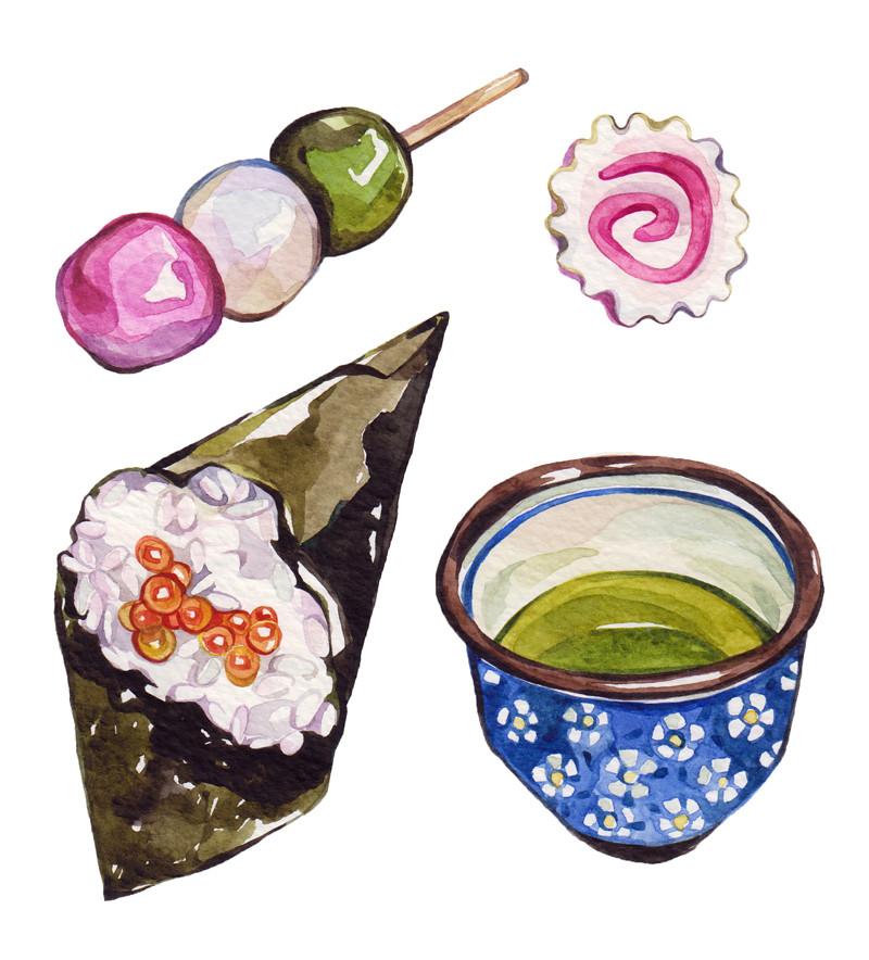 hanami dango narutomaki temaki amp matcha tea laura