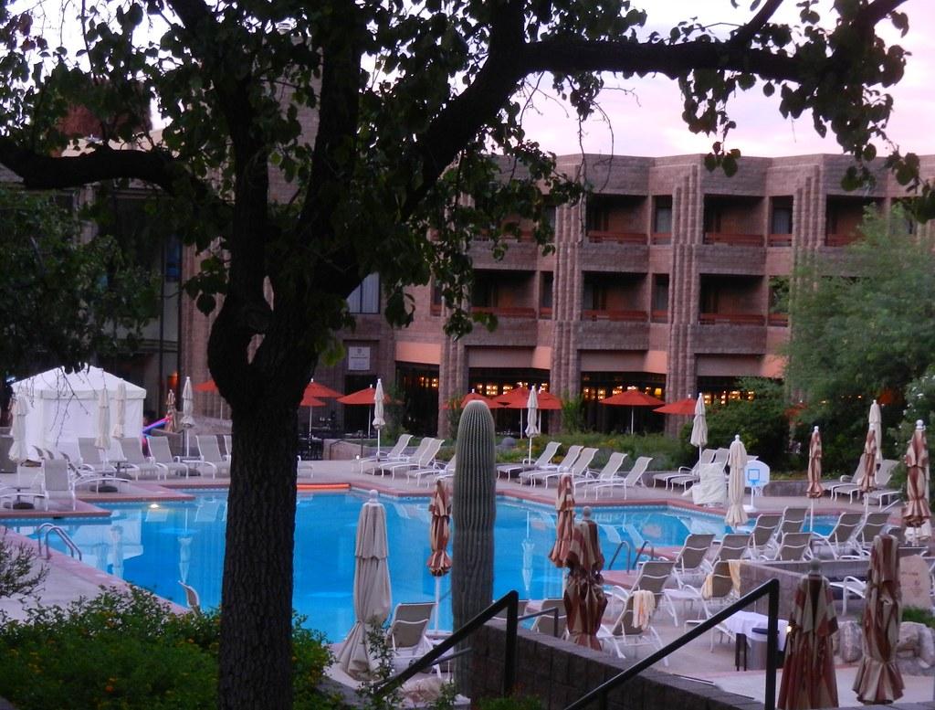 Loews ventana canyon resort swimming pool at sunrise aug flickr for Phoenix swimming pool white city
