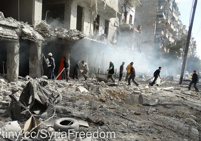 aleppo syria bombing