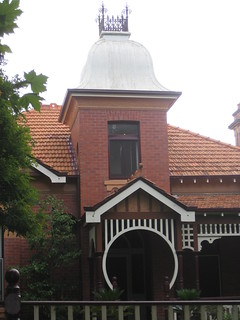"The Turret Entrance to ""Locksley"", a Queen Anne Mansion - Ballarat"