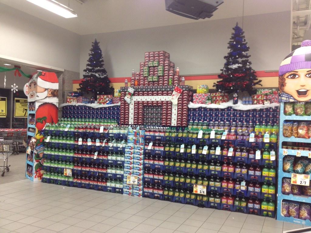 Christmas Pepsi Display