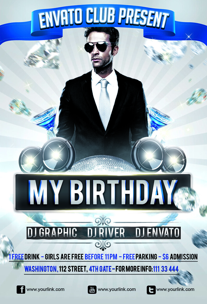 My Birthday Party Flyer Template  Download This TemplateHt  Flickr
