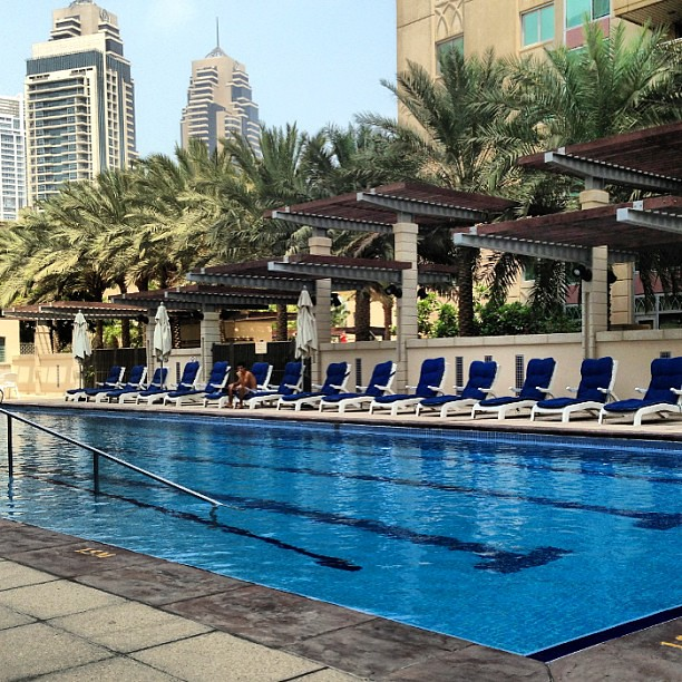 Olympic Size Swimming Pools With Mansions: Semi Olympic Sized #Pool At The #murjan #dubai #marina #ua
