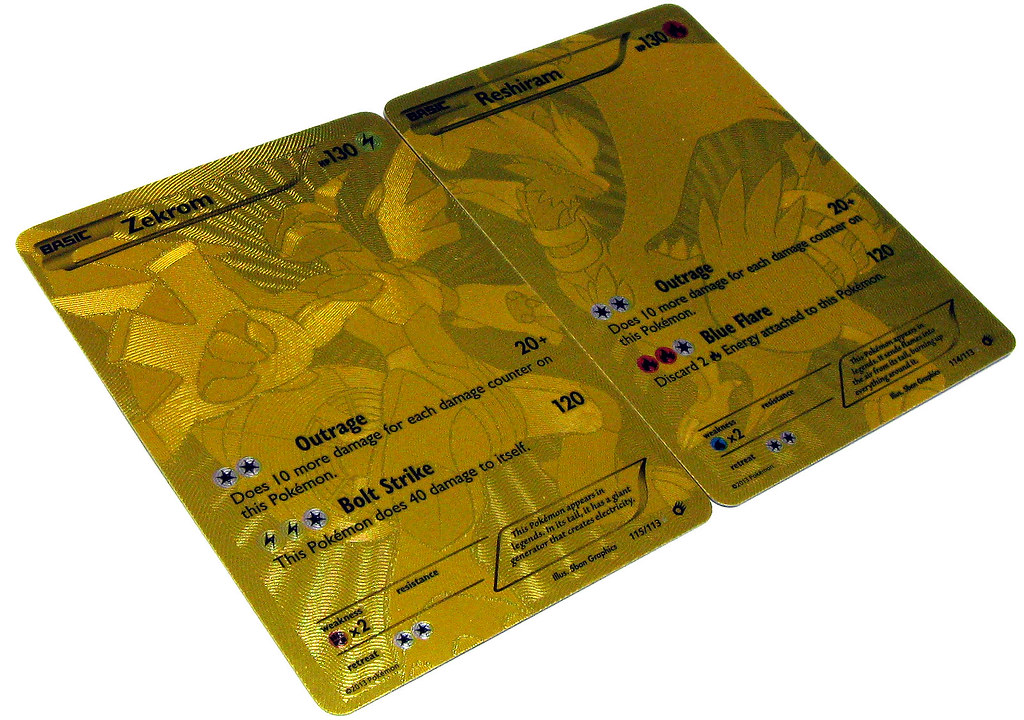Gold Chase cards from Pokemon Legendary Treasures! | Flickr