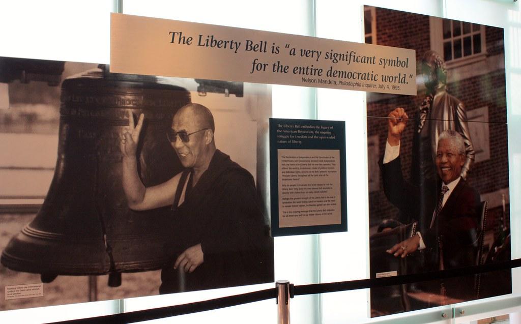 Philadelphia Liberty Bell Dalai Lama
