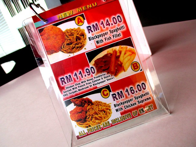 Warung BM new items on menu