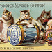 Brook's spool cotton for hand & machine sewing, Brook's Patent Glace Thread 50, Brook's Six Cord 40 [front]