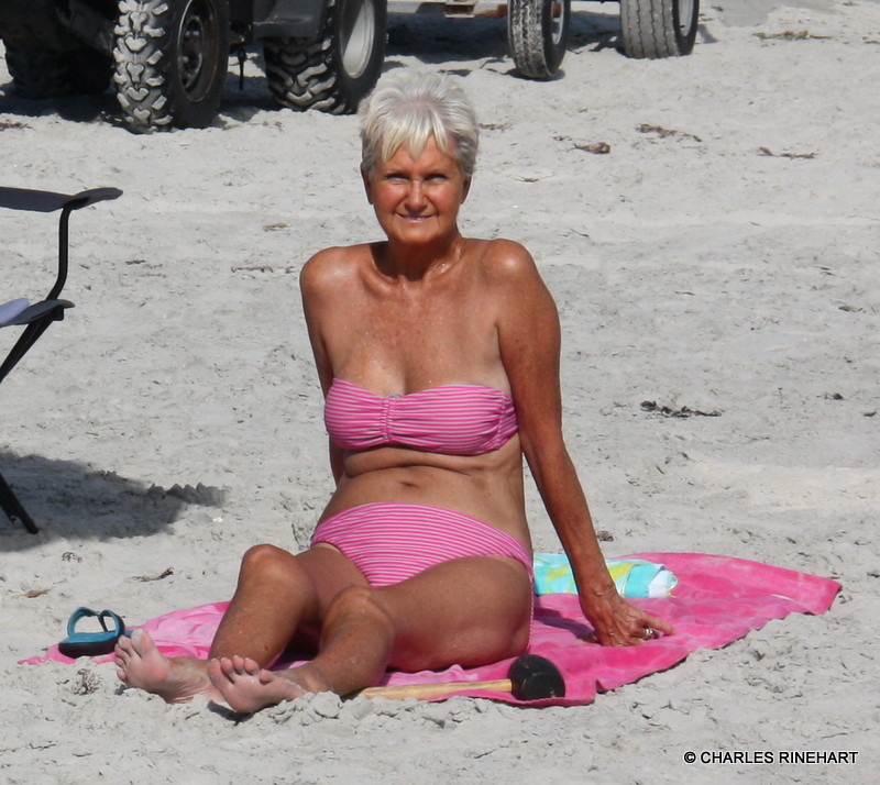 Mature Granny On The Beach | When a senior citizen gives a ...