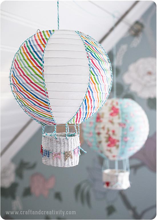 Поделки воздушный шар корзина