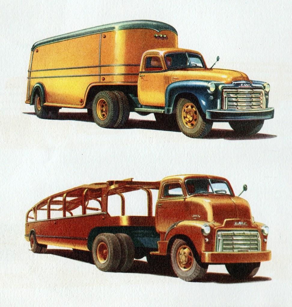 Ford Transport Van >> 1950 GMC Conventional Van Tractor/Trailer & C.O.E. Car Hau… | Flickr