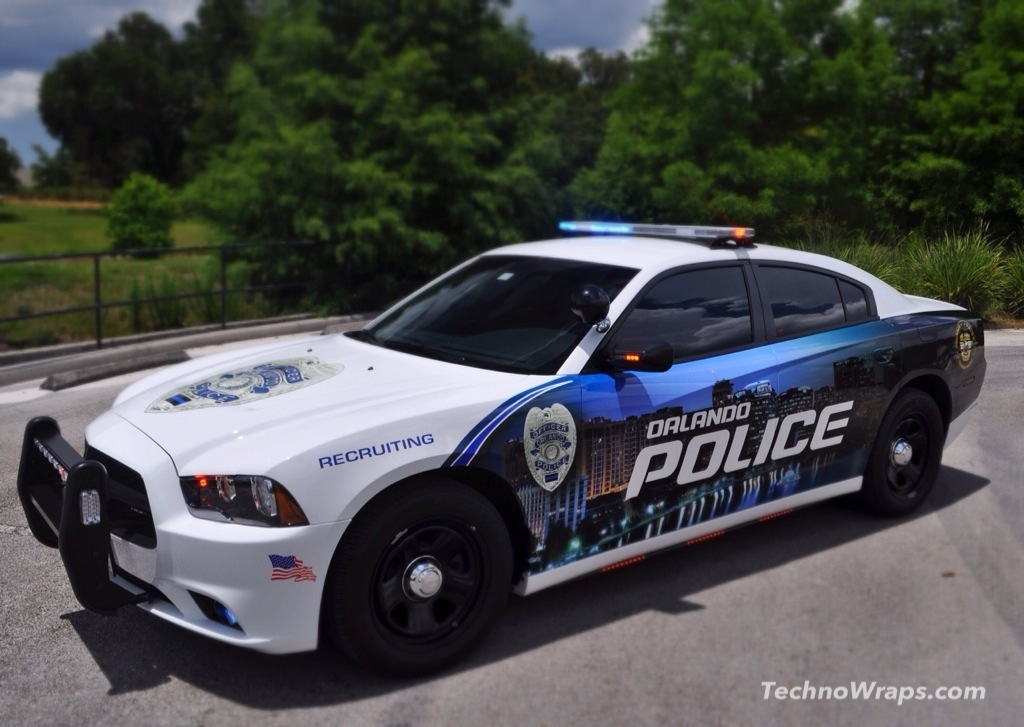 Police Car Graphics Wrap In Orlando Florida This Police