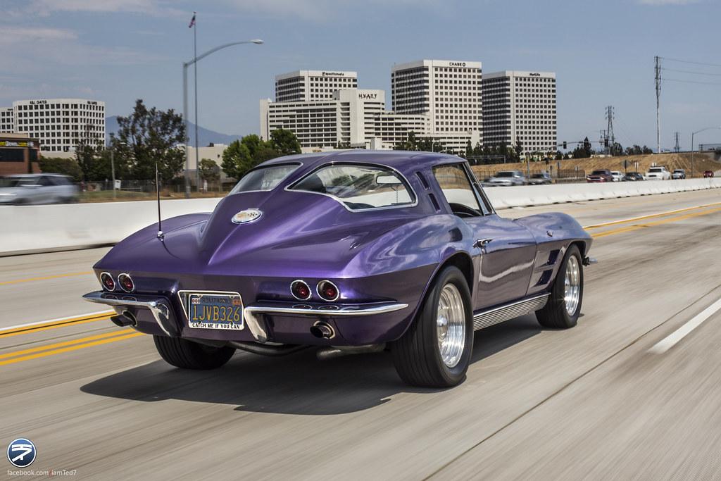 Purple Corvette C2 on the i405 South | As I was heading ...