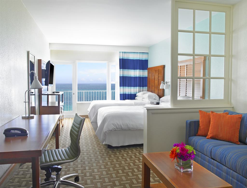 four points by sheraton miami beach ocean front junior sui. Black Bedroom Furniture Sets. Home Design Ideas