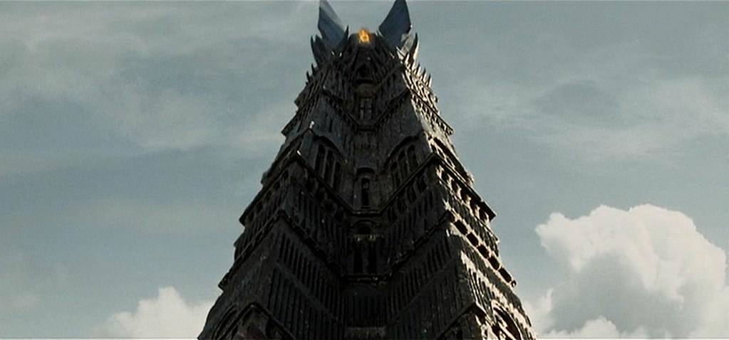 orthanc tower in isengard the lord of the rings the