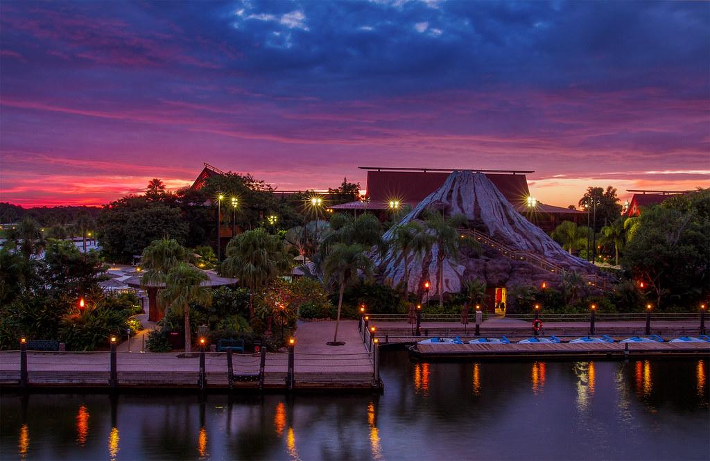 Disney's Polynesian Village Resort at Sunrise | Last month ...