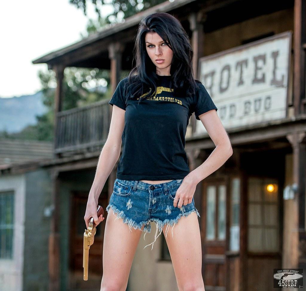 Nikon D800E Photos Cowgirl Model Goddess With Cutoff Daisy -7513