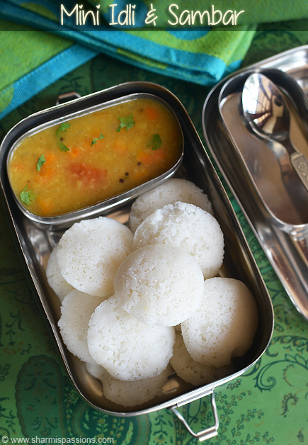 Mini Idli and Sambar