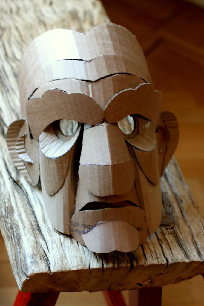 old man mask cardboard mask of a grouchy old man wrnking flickr. Black Bedroom Furniture Sets. Home Design Ideas