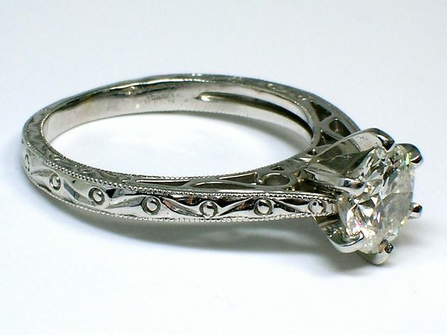 Shane Co Engraved Diamond Engagement Ring Flickr Photo Sharing