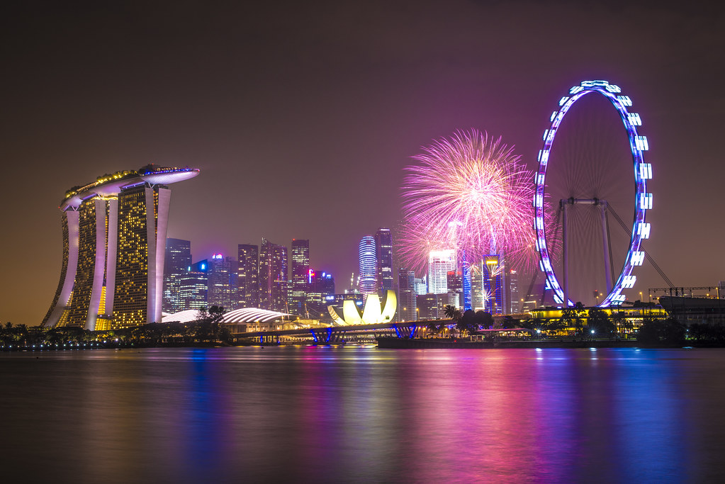 singapore 2014 countdown firework as the clock ticks away flickr