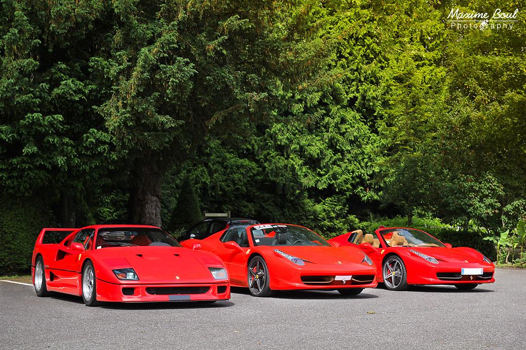 Ferrari F40 + Ferrari 458 Italia Spider | www.facebook.com/M ...
