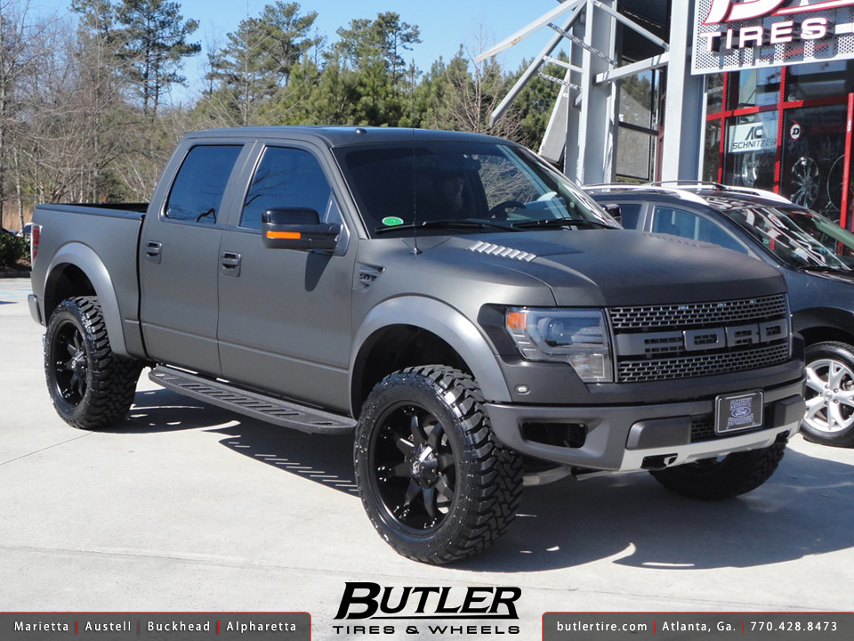 Matte Black Ford Raptor with 22in Fuel Octane Wheels | Flickr